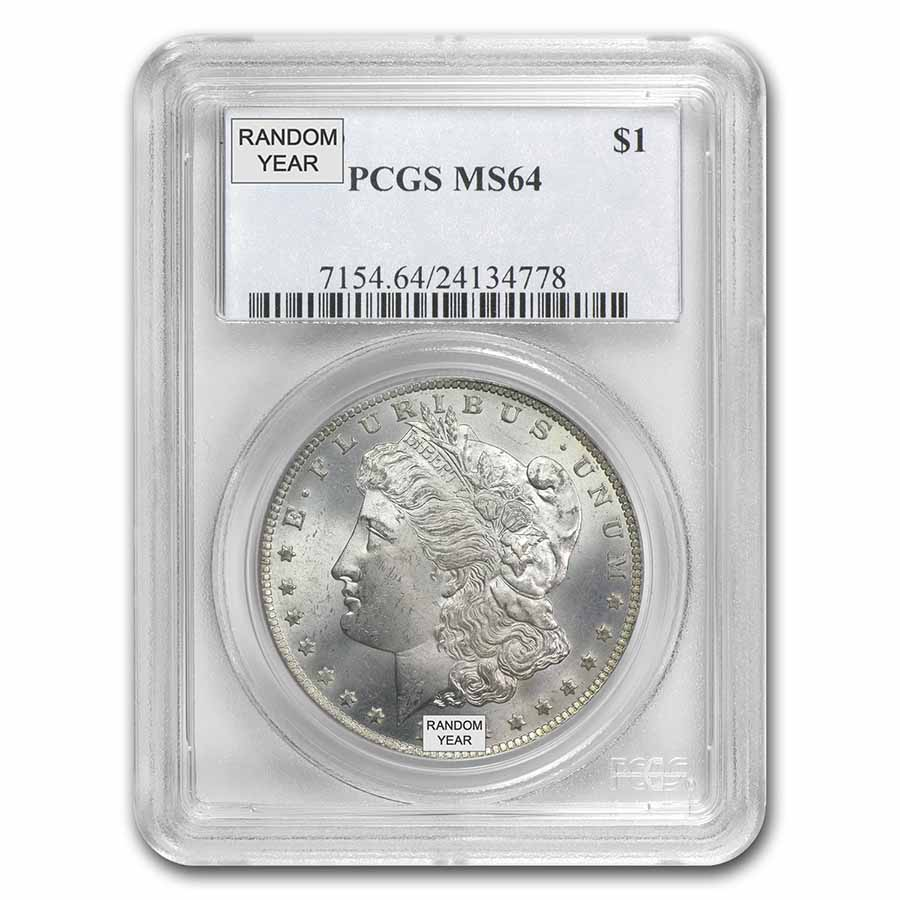 1878-1904 Morgan Silver Dollar MS-64 PCGS